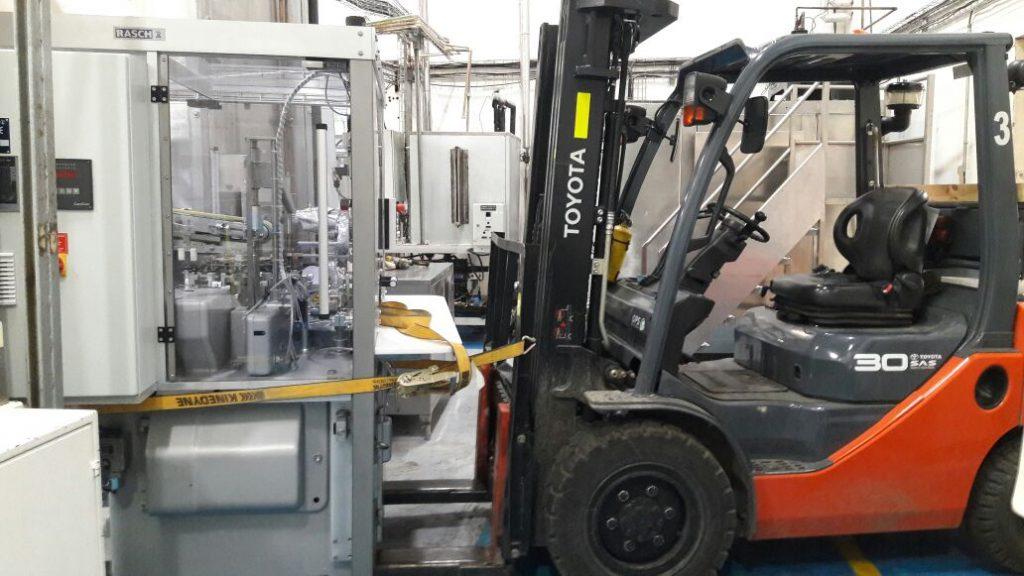 movimiento de máquinas industriales