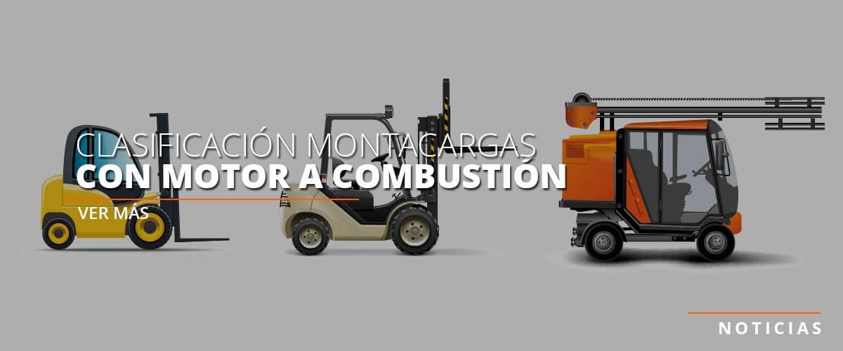 clasificacion montacargas con motor a combustion